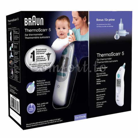 Braun® Thermoscan® 5 Ear Thermometer With Exactemp Technology, 1 thermometer