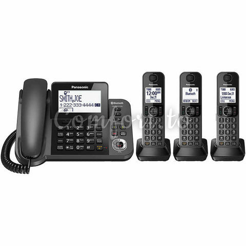 Panasonic® Kx-Tg153M 6.0 Dect Corded And 3-Cordless Handset Phone System, 3 phones