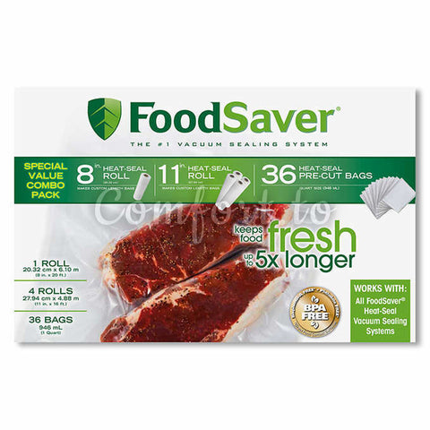 Foodsaver Roll And 36 Bags Combo Pack, 1 unit
