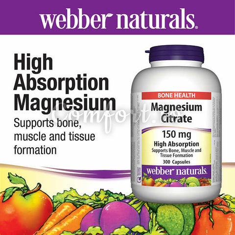 Webber Naturals® Magnesium Citrate 150 mg, 300 tablets
