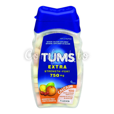 Tums Extra Strength Antacid Calcium Supplement, 4 x 100 tablets