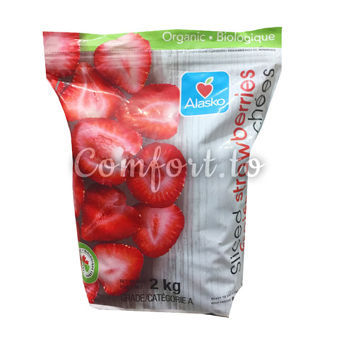 Frozen Alasko Sliced Strawberries, 2 kg