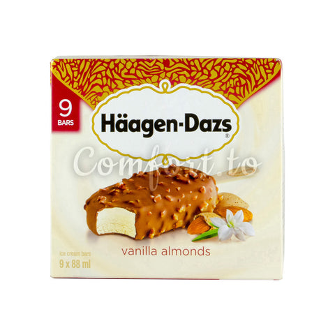 Haagen–Dazs Vanilla Almonds, 9 x 88 mL