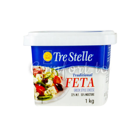 Tre Stelle  Traditional Feta Greek Style Cheese , 1 kg