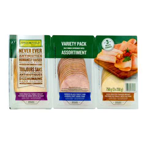 Greenfield Natural Meat Gluten Free Variety Pack, 3 x 250 g