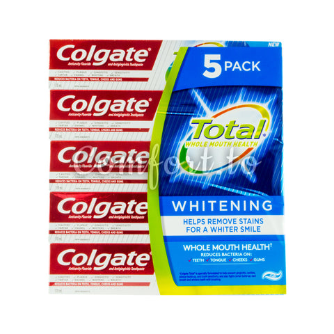 Colgate Total Whole Mouth Health Whitening, 5 x 170 ml