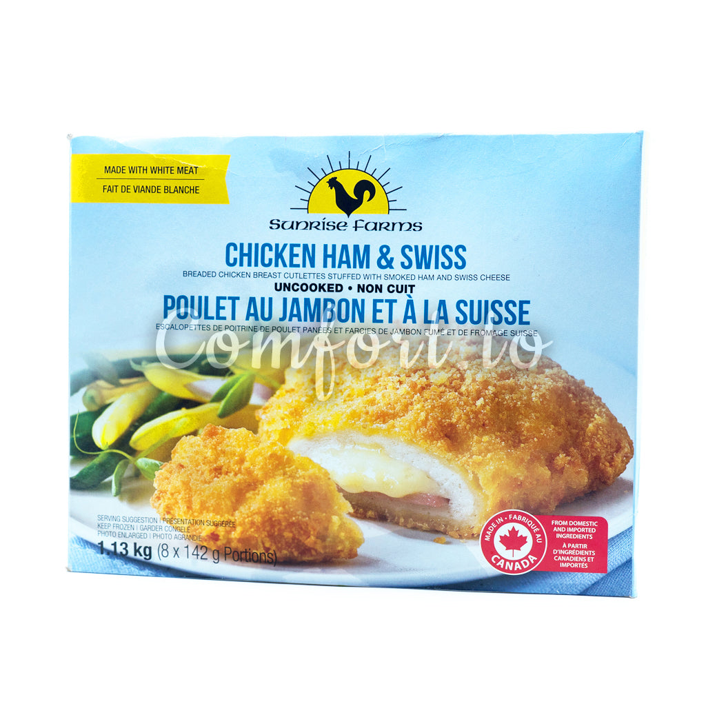Frozen Sunrise Farms Chicken Ham & Swiss, 1.1 kg