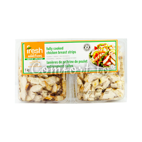 Fresh Additions Fully Cooked Chicken Breast Strips, 2 x 0.5 kg