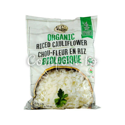 Via Emilia Frozen Organic Riced Cauliflower, 4 x 340 g