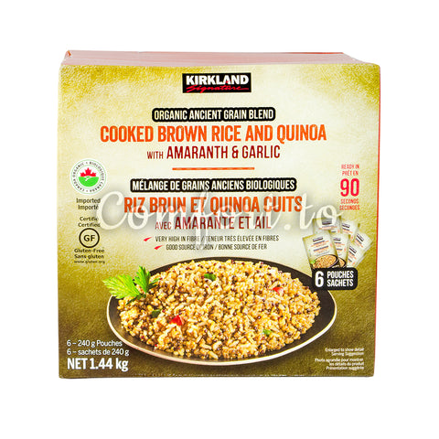 Kirkland Signature Organic Brown Rice & Quinoa, 6 x 240 g