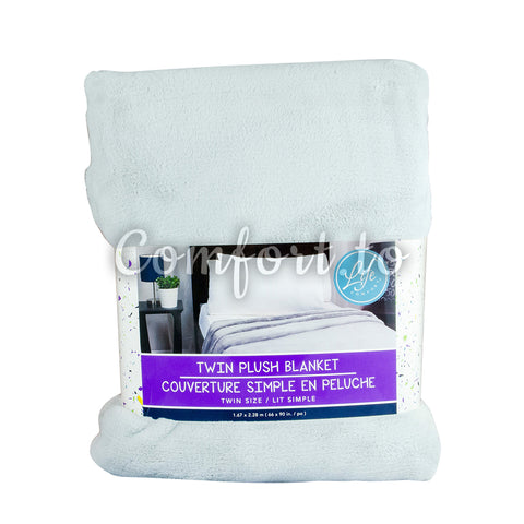 Life Comfort Twin Plush Blanket, 1 unit