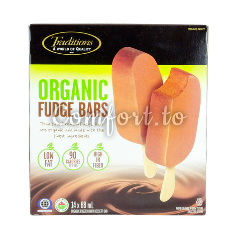 Traditions Frozen Organic Fudge Bars, 14 x 88 mL