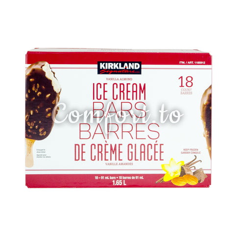 Kirkland Signature Frozen Ice Cream Bars, 18 x 91 mL