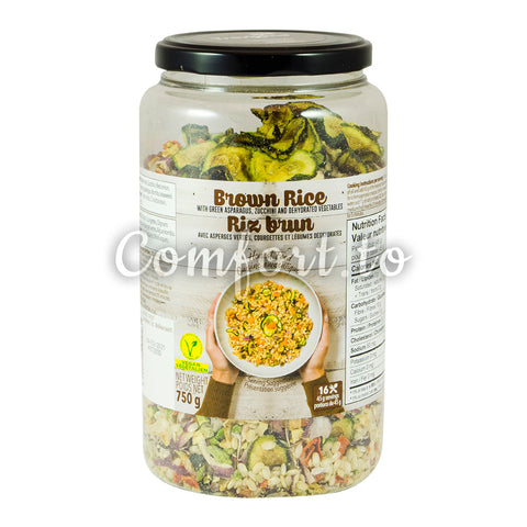 Brown Rice with Asparagus, Zucchini & Dehydrated Vegetables, 750 g