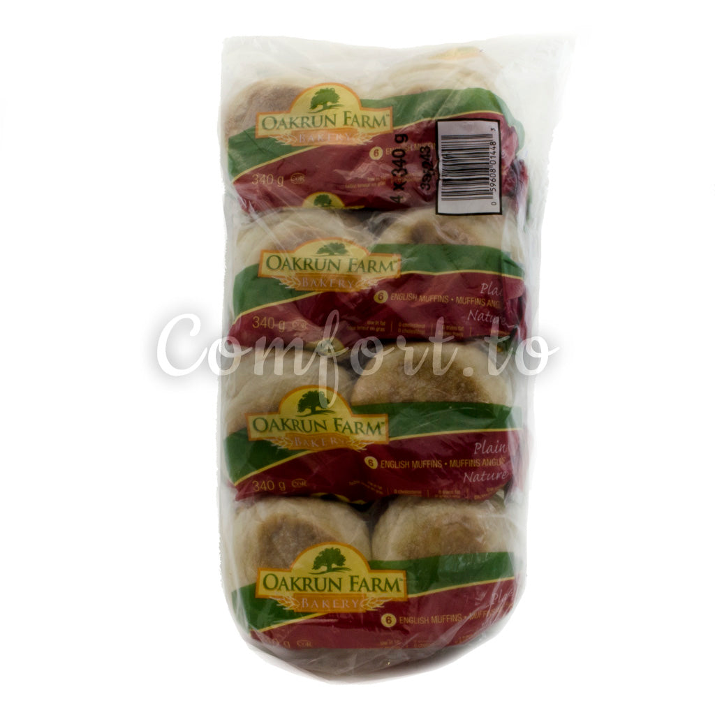 Oakrun Farm Plain English Muffins, 24 x 57 g