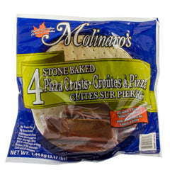 Molinaro's Organic Stone Baked Pizza Crusts with Sauce, 4 x 360 g