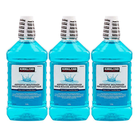 Kirkland Signature Antiseptic Mouth Wash, 3 x 500 mL