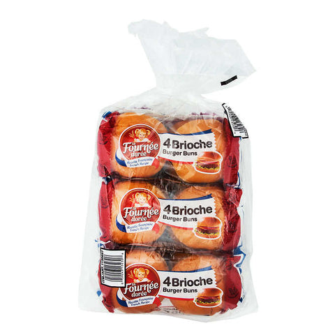 La Fourtunee Doree Brioche Burger Buns , 3 x 200 g