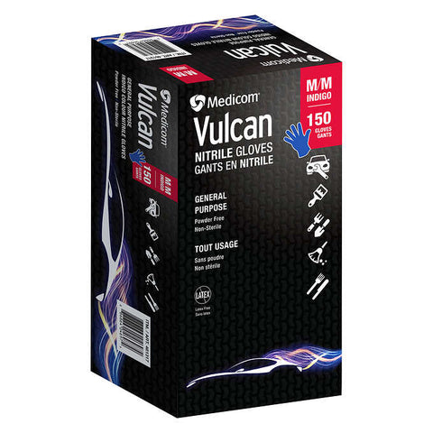 Vulcan Blue Nitrile Gloves +Large and Medium 120CT, 1 unit