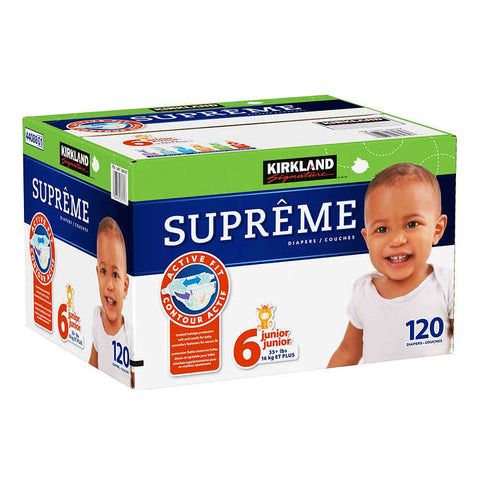 Kirkland Signature Diapers Size 6, 120 units