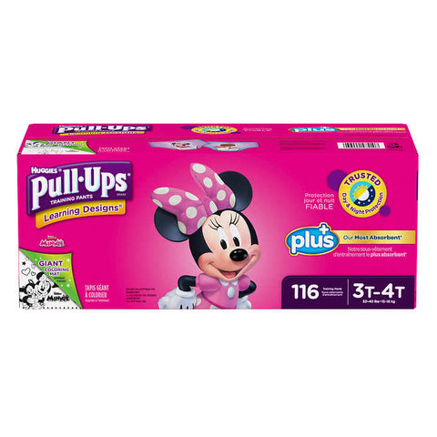 Huggies Pull-ups Plus Training Pants  3T to 4T Girl, 116 units