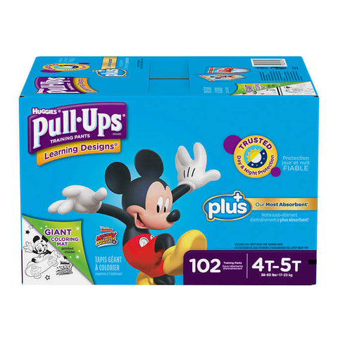 Huggies Pull-ups Plus Training Pants  4T - 5T Boy, 102 units