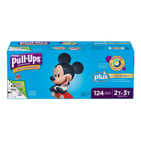 Huggies Pull-ups Plus Training Pants  2T - 3T Boy, 124 units