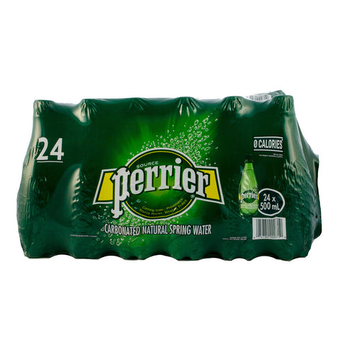 Perrier Carbonated Natural Water, 24 x 0.5 L