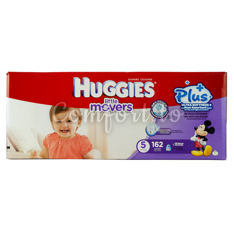 Huggies Little Movers 5 Diapers, 162 diapers