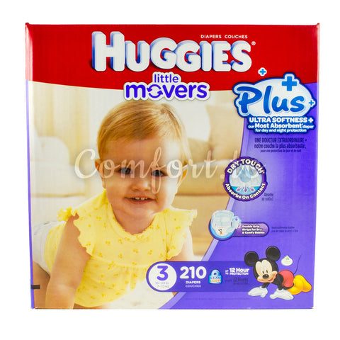 Huggies Little Movers 3 Diapers, 210 diapers