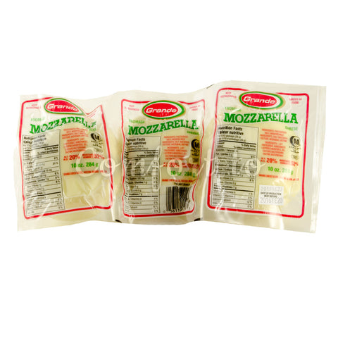 Grande Cheese Mozzarella Cheese, 3 x 284 g