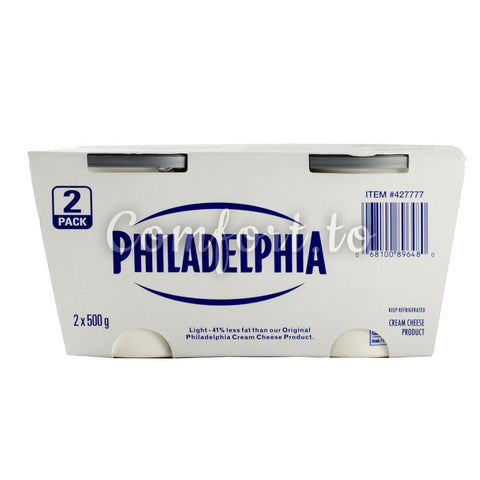Philadelphia Light Cream Cheese, 2 x 0.5 kg