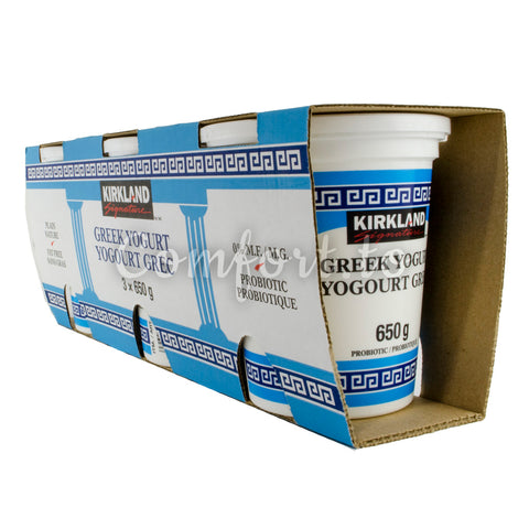 Kirkland Plain Greek Yogourt 0%, 3 x 0.7 kg