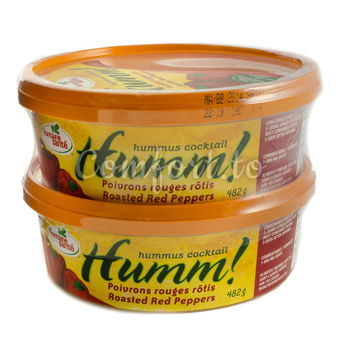 HUMM! Red Pepper Hummus, 2 x 482 g