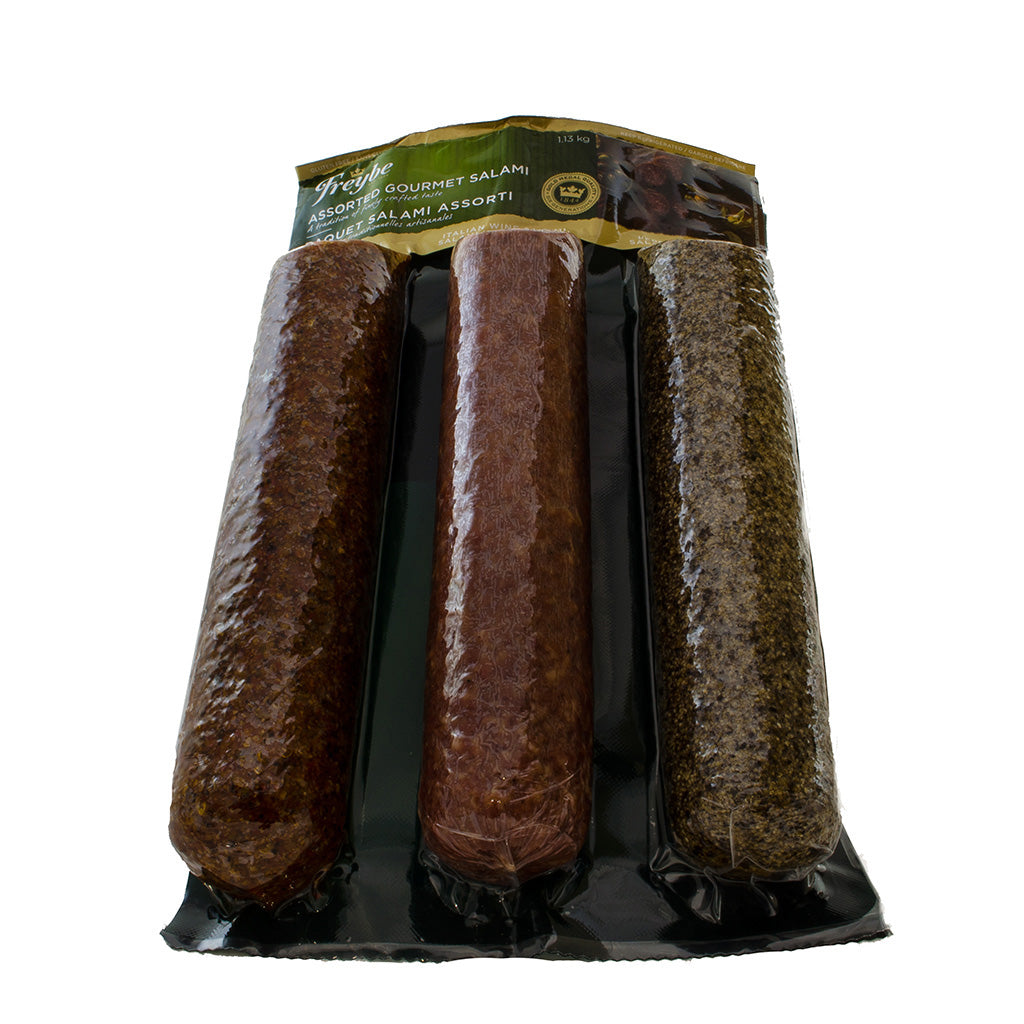 Freybe Assorted Gourmet Salami Pack, 3 x 377 g
