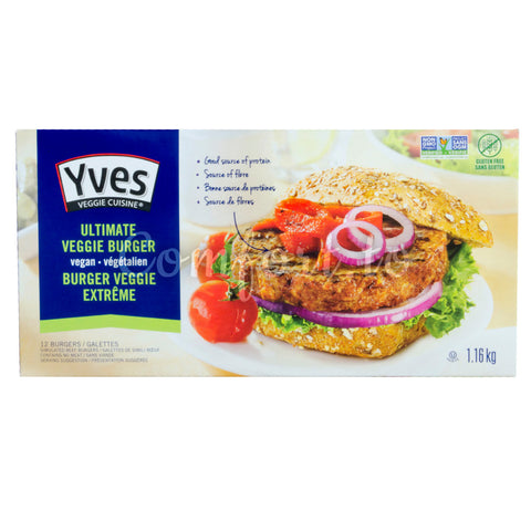 Yves Ultimate Veggie Burger Vegan, 12 x 97 g