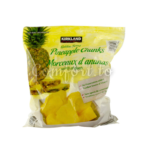 Kirkland Frozen Golden Sweet Pineapple Chunks, 2 kg