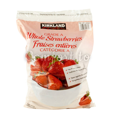 Kirkland Frozen Whole Strawberries, 2.5 kg