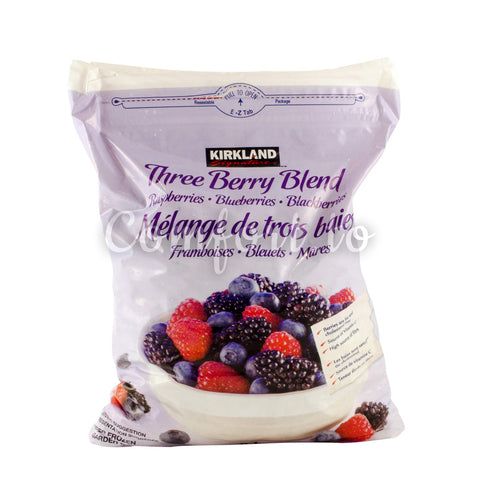 Kirkland Frozen Three Berry Blend, 1.5 kg