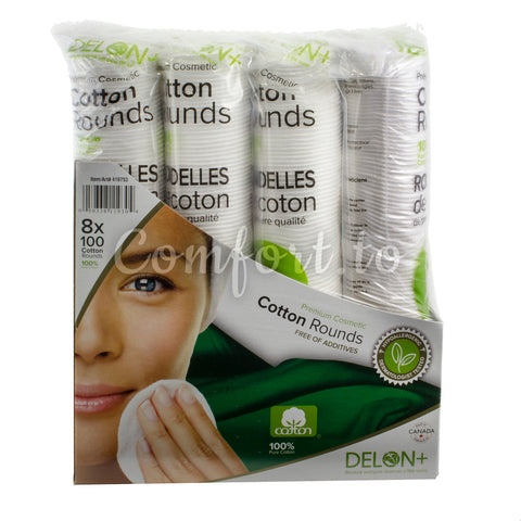 Delon+ Cotton Rounds, 800 rounds