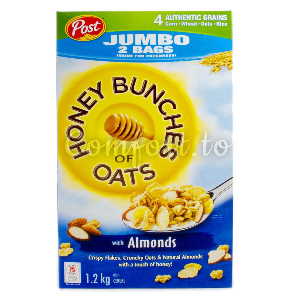 Post Honey Bunches of Oats Cereal with Almond, 2 x 0.6 kg