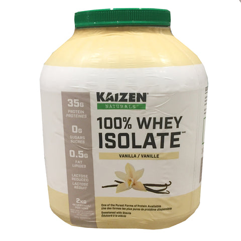 Kaizen Vanilla Ice Cream Flavour Whey Isolate Protein Drink Mix, 2 kg