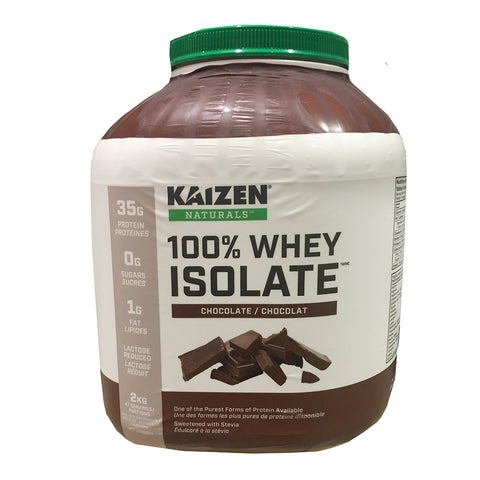 Kaizen Chocolate Flavour Whey Isolate Protein Drink Mix, 2 kg