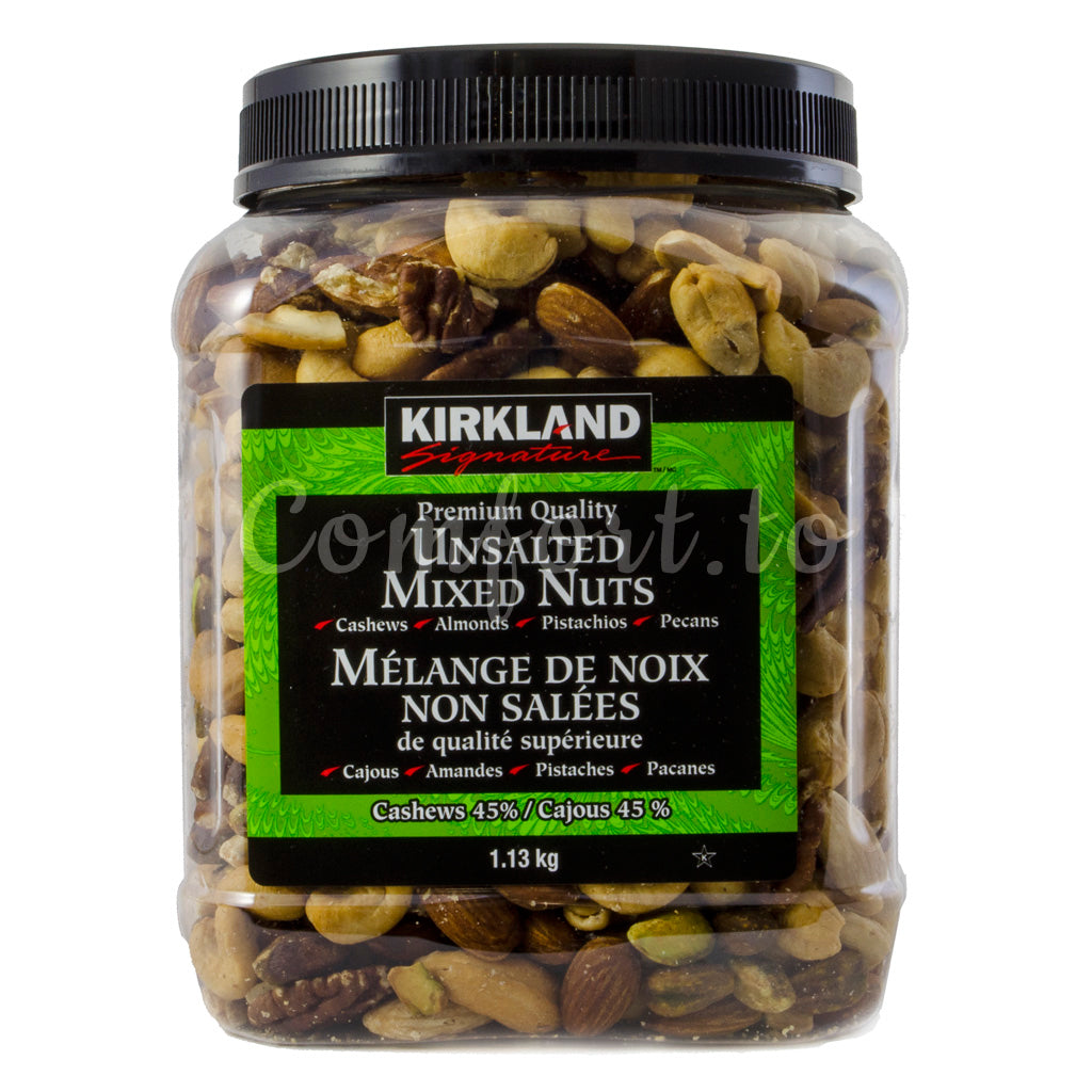 Kirkland Unsalted Mixed Nuts, 1.1 kg