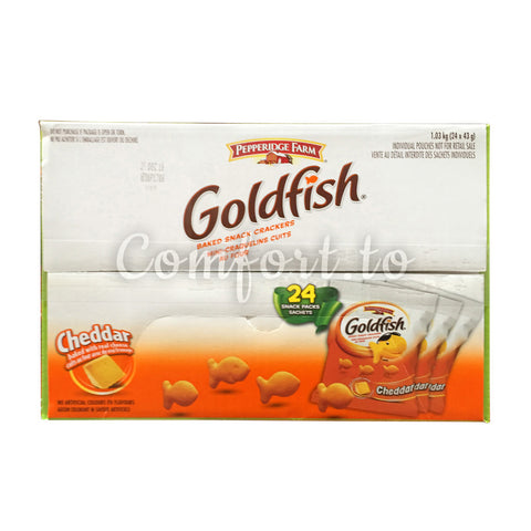 Pepperidge Farm Gold Fish Crackers Individual Pouches, 24 x 43 g