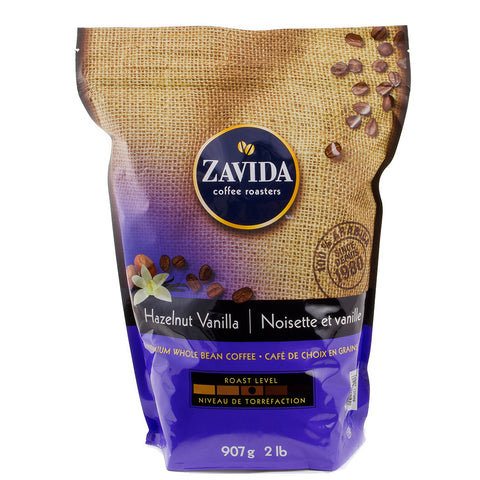 Zavida Hazelnut Vanilla Whole Bean Coffee, 907 g