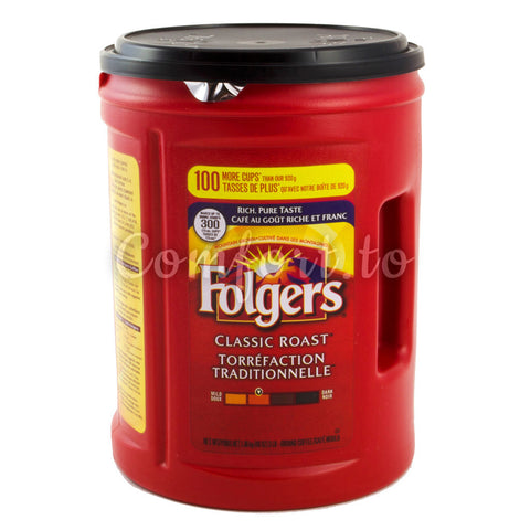 Folgers Classic Roast Ground Coffee, 1.4 kg