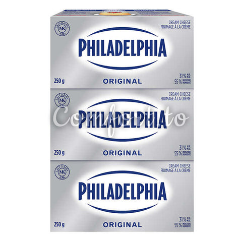 Philadelphia Brick Cream Cheese, 3 x 250 g