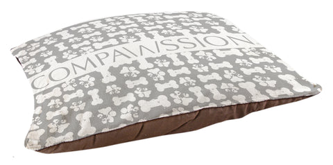Gray Bones Dog Bed