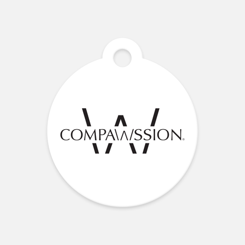 Compawssion Pet Tag (White)
